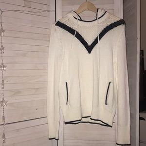 Victoria's Secret hoodie sweater white & Black